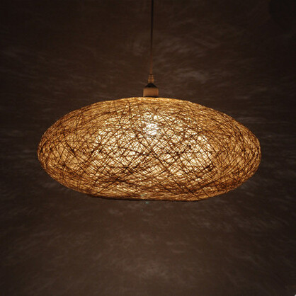 Wicker Modern Nordic LED Pendant Light Creative Hanging Lamp Concise Fixtures For Cafe Bar Home Lightings Lamparas Colgantes
