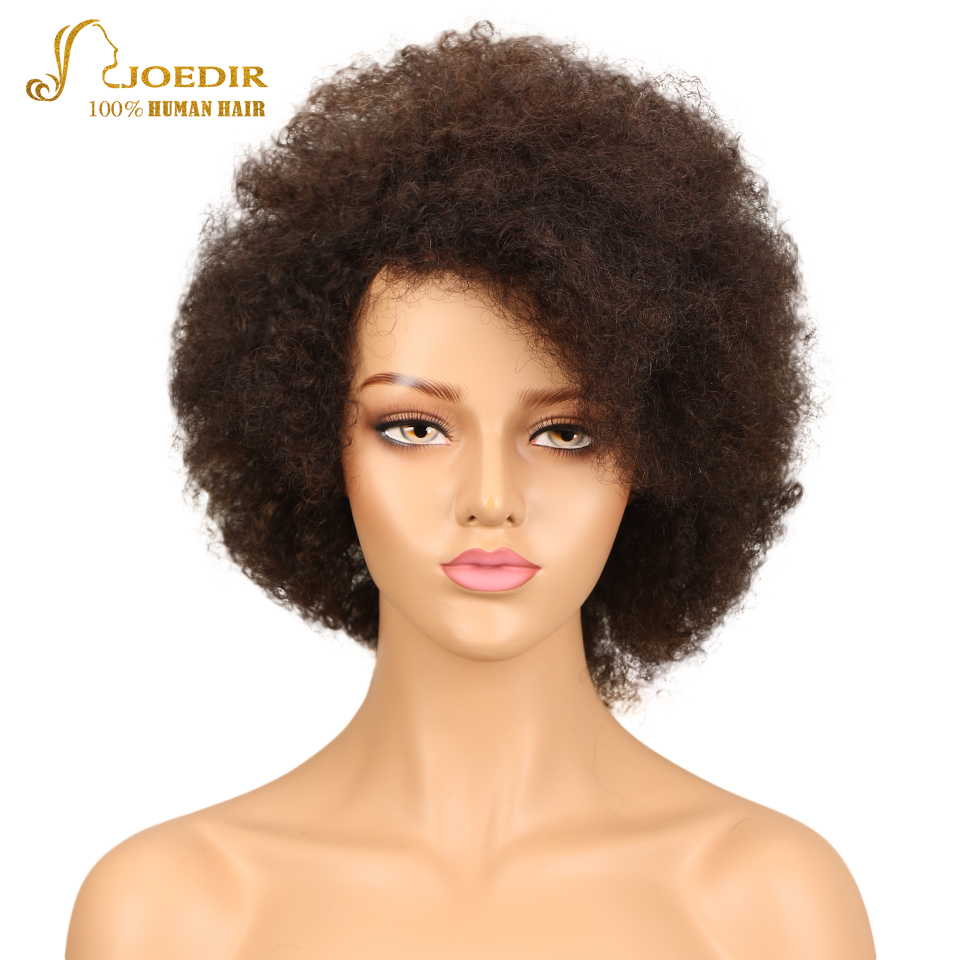 Joedir Human Hair Wigs Brazilian Afro Kinky Curly Wig Sassy Curl Hair Wig Color FW2/30 Short Wigs For Black Women Free Shipping