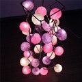 Bolas de Algodão luzes Da Corda colorida 20 pçs/set Partido, Patio, Fada, Decoração Chrismas, Weding DIY