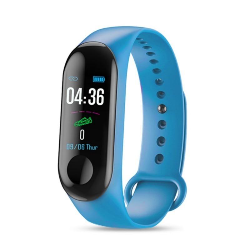 M3 Color Screen Wristband USB Charging Smart Bracelet IP67 Waterproof Bluetooth 4.0 Smartbands Alarm Reminder Sports Step