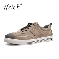 Men S Shoes Casual Shoes Fashion Gray Khaki Wearable Low Top Leather Sneakers Elastic Band Spring