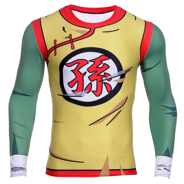 Dragon Ball Z  3D Vegeta Goku Piccolo Super Saiyan Base Layer T Shirt