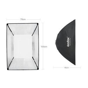 Image 5 - 2 ADET Godox SL Serisi Video Işığı SL 200W Beyaz Versiyonu video ışığı Sürekli Işık + 2x70x100 cm Softbox + 2x280 cm Işık Standı
