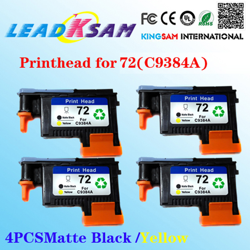 4x For 72 C9384a Printhead Compatible For Hp72 Matte Black Yellow Designjet 2300/t610/ T620/t770/t790/t1100/t1120/t1200 Making Things Convenient For The People
