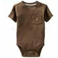 2016 Summer Style Short Sleeve Baby Rompers Cartoon Baby Boy Clothes Brown Baby Clothing Girl Costumes