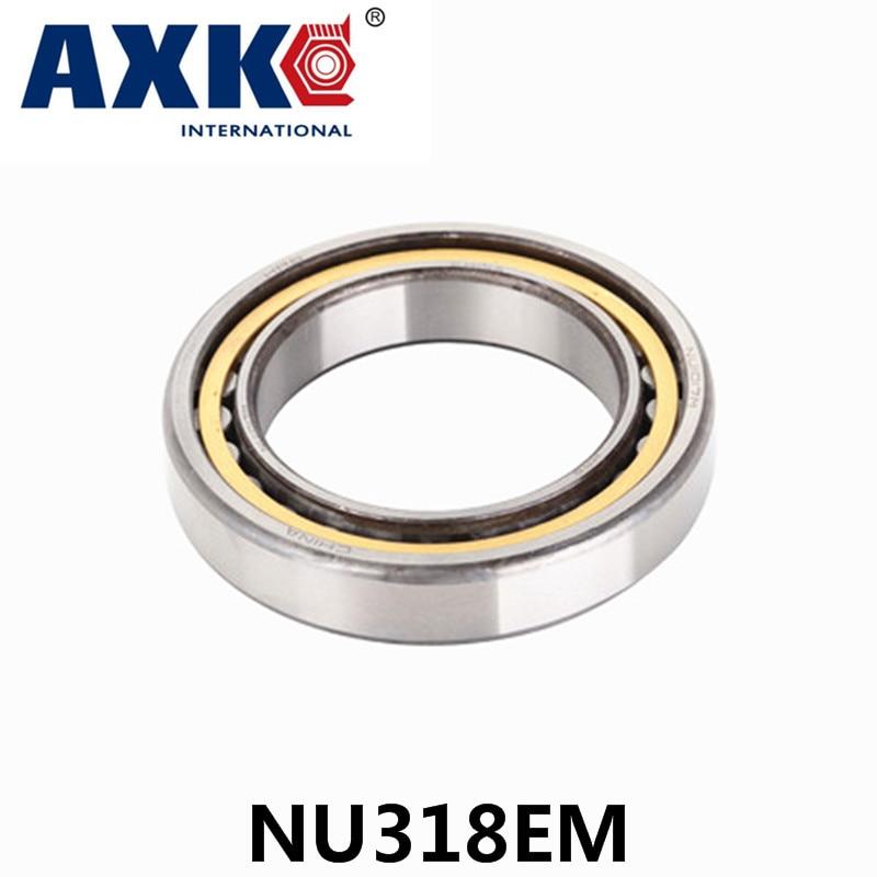 AXK   bearing NU318EM  Cylindrical roller bearing  90*190*43mm