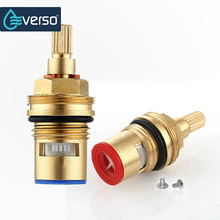 Ceramic Thermostatic Valve Faucet Cartridge Bathroom Hot and Cold Mixer Valve Adjust Water Temperature Brass Material