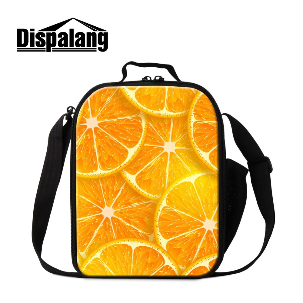 Us 16 99 26 Off Dispalang Insulated Lunch Box Container For Kids Fruit Pattern Thermal Bags S Children Messenger Cooler Bag In