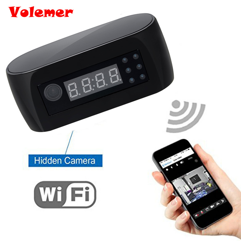 Volemer HD 1080P Wifi Camera with Time display Electronic Clock DV Camcorder P2P Motion Detection Mini IP Camera Video RecorderVolemer HD 1080P Wifi Camera with Time display Electronic Clock DV Camcorder P2P Motion Detection Mini IP Camera Video Recorder