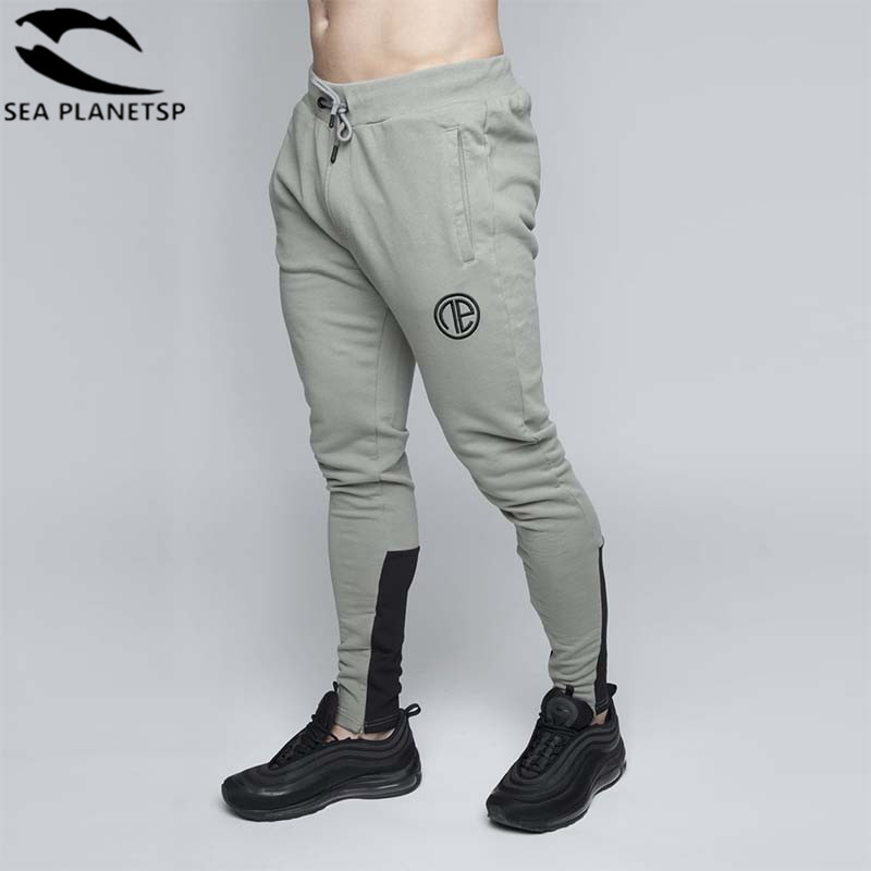 2018 Herbst Marke Turnhallen Männer Jogger Jogginghose Männer Jogger Hosen Sporting Kleidung Die Hohe Qualität Bodybuilding Casual Hosen