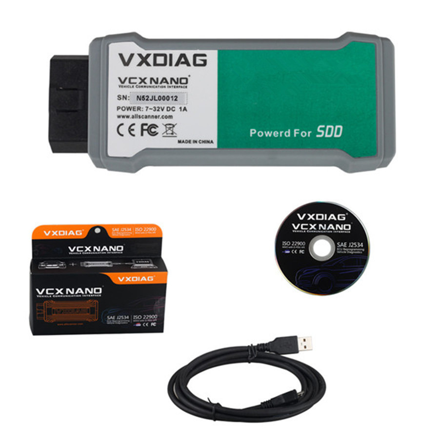 VXDIAG VCX NANO for JLR SDD V145 with Offline Engineer Version Multi Languages Diagnostic Tool Free Shipping