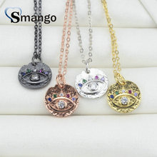 5Pieces, The Rainbow Series ,Women Fashion  The Eyes Round Card Shape Necklace and Pendant, 4 Colors,Can Wholesale цена