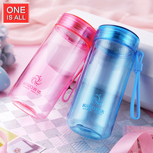 ONE IS ALL Plastic Water Bottle Brief BPA Free My Bottle With Rope Drink Bottle Hiking Water Tumbler Eco-friendly Candy Color