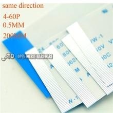 Изоляционный материал 4-60PIN FFC/TTL плоская проволока гибкий кабель длина 0.5 ММ 200 мм с тем же направлением 5 ШТ./ЛОТ