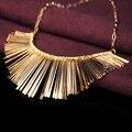 Cinza Prata ouro 3 Cores Tassel Colar Collier Femme Alta Qualidade Declaração de Jóias Vintage Gargantilhas Colar & Pingentes
