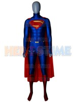 Superman Costume Spandex Lycra Superman Cosplay Costume With Cape For Adult/Kids/Custom Made Free Shipping