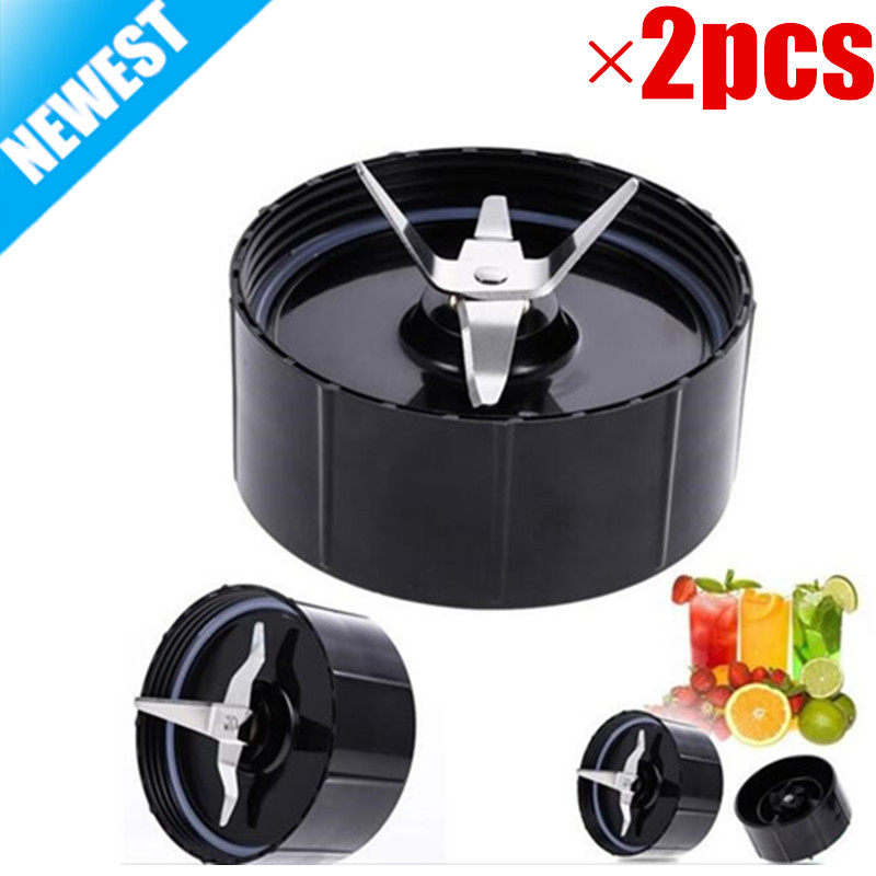 2 Pack New Replacement Household Cross Blades With Gaskets Part For The Magic Bullet Blender Juicer Mixer 250W SA081 8 replacement spare parts blender juicer parts 4 rubber gear 4 plastic gear base for magic bullet 250w 38
