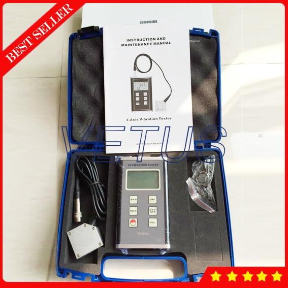 VM 6380 3 Axis Accelerometer XYZ Digital Vibration Meter VM6380