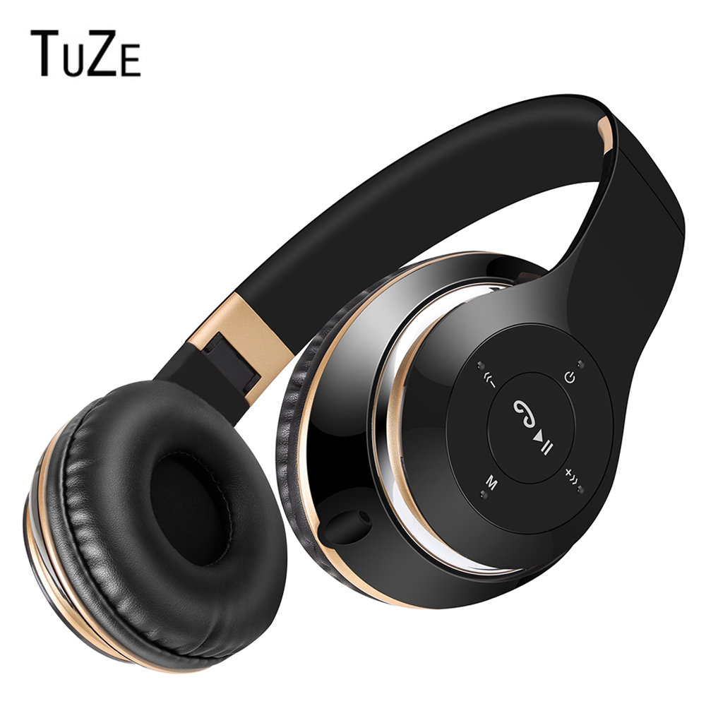 TuZe P7 Bluetooth Headphone Wireless Headphones With MIC Support TF Card FM Radio Stereo Bass Headset For Phone iPhone Xiaomi PC elsker 38g