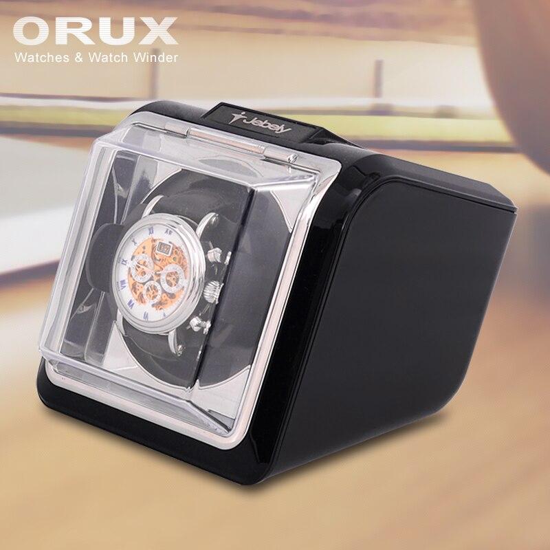 Jebely Nouvelle Arrivée Noir mini Unique Montre Enrouleur pour automatique montres boîte de montre automatique enrouleur de stockage de vitrine boîte