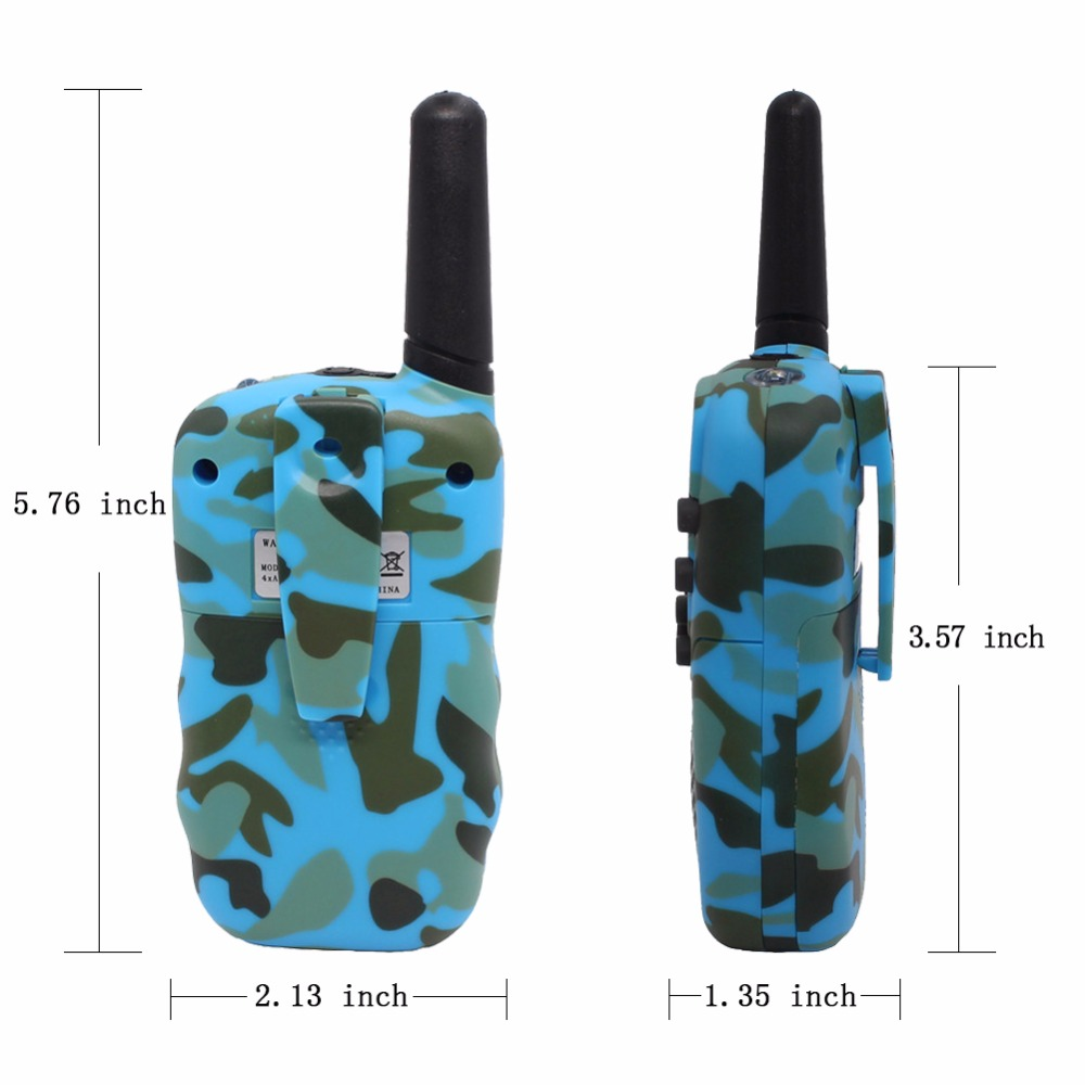 2PCs T388 Mini Walkie Talkie for Kids Child 22 Channels FRS/GMRS Radio with VOX LED flashlight Camouflage 0.5W Two Way radio