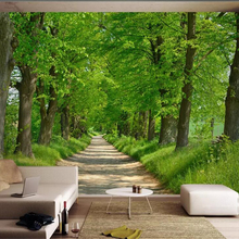 Beibehang Custom wallpaper mural nature forest avenue landscape 3d TV