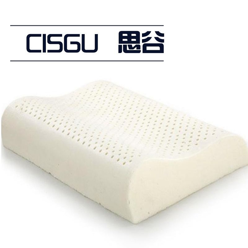 natural latex bed cervical orthopedic pillow sleeping bedding wave curve shaped pillows neck head care memory