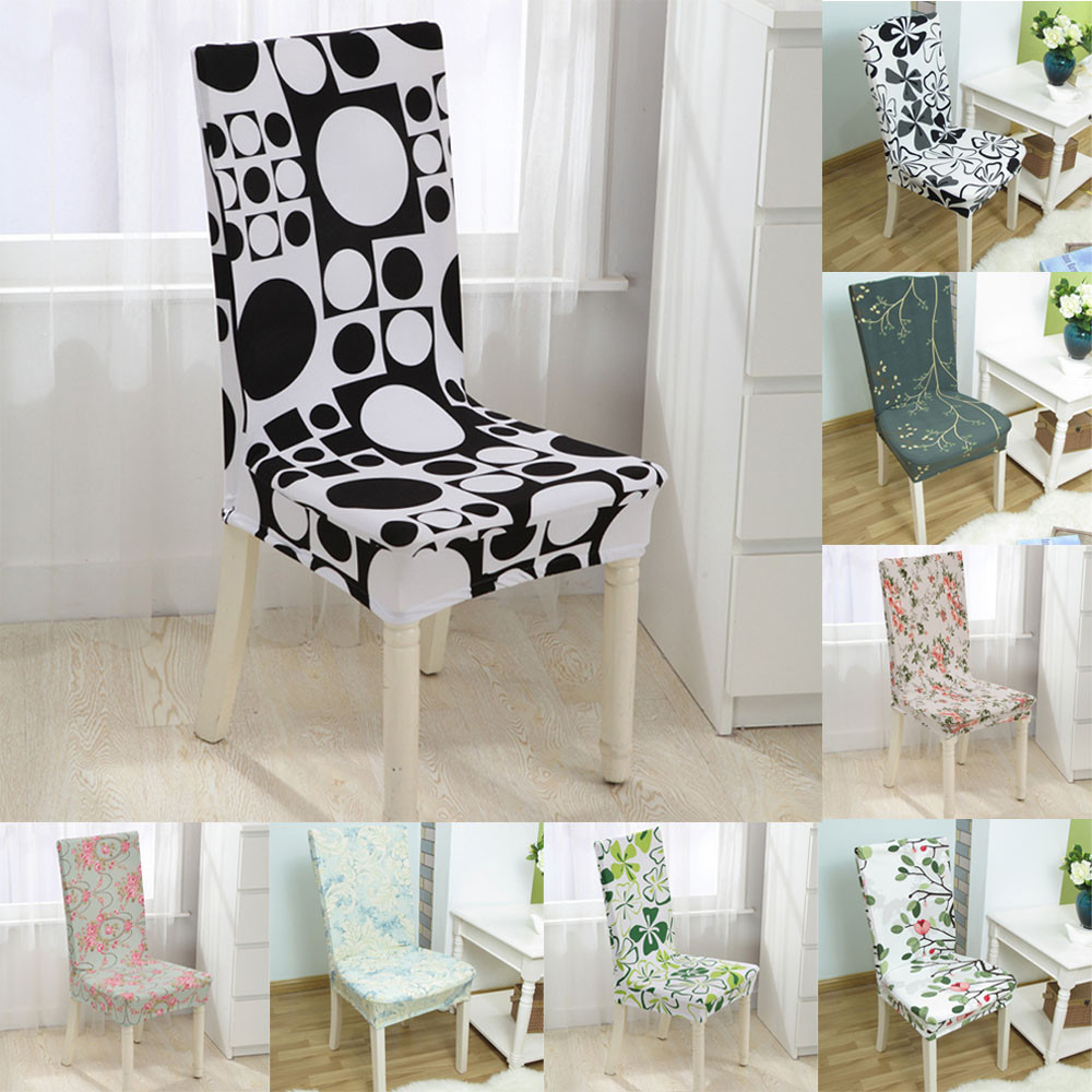 Dot Stripe Universal Chair Covers Stretch Spandex Cobertura Da Cadeira Dining Room Wedding Banquet Cover