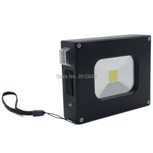 2 sets 2 in 1 10W LED recharageable Pocket flood light with power bank and ultrathin led pocket Work lamp for hiking camping