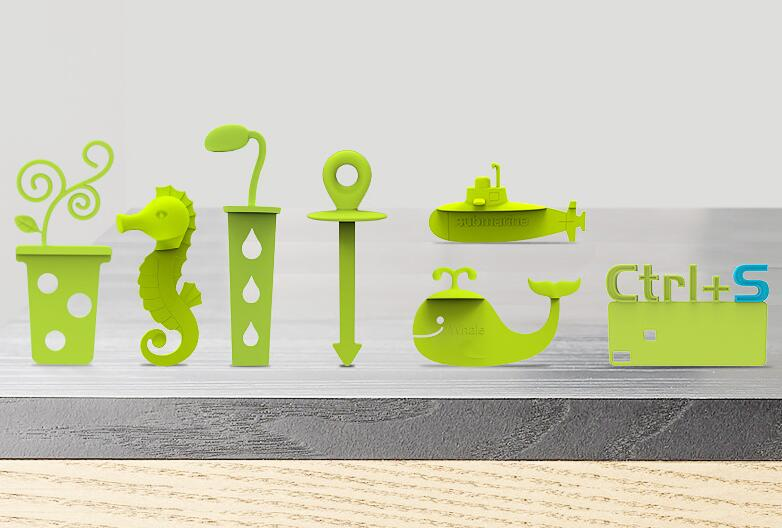 3D Bookmark Novelty 3D Silicone Bookmarks For Book Page Marker As Kids School Prize 3pcs/set