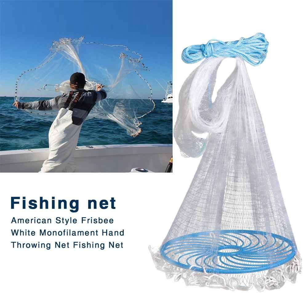 אמריקאי דיג רשתות יצוק נטו עם כבד החובה משקולת משקולות, דיג לזרוק נטו עבור מלכודת פיתיון שני אופציונלי נפגש גדלים
