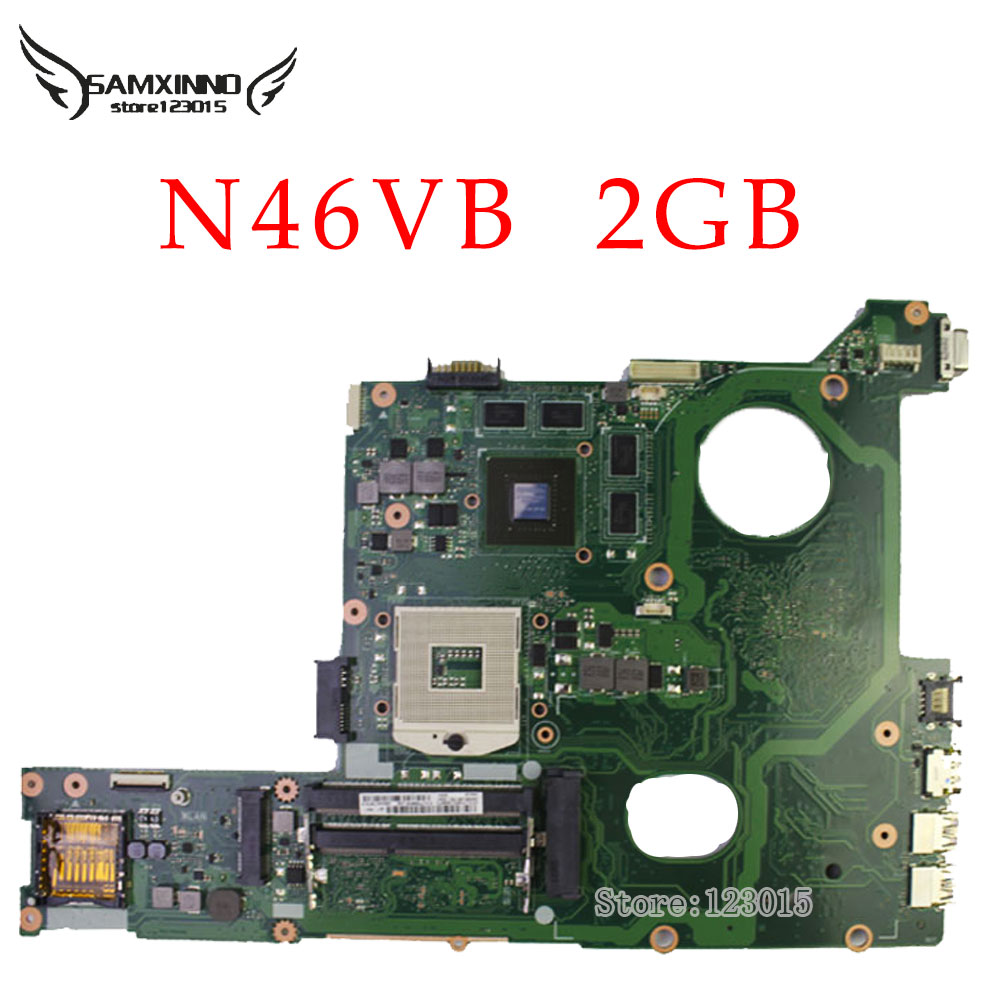Original for ASUS N46VB 2GB motherboard DDR3 Non-integrated fully test ok g31 motherboard g31 dd2 ram fully integrated 3 775 needle