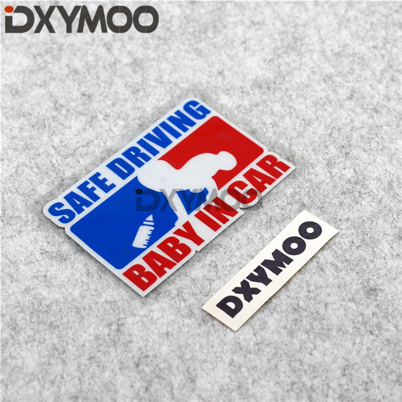Creative Car Window Warning Stickers SAFE DRIVING BABY IN CAR Decals 12x8cm ...