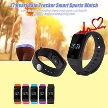 X7 смарт браслет Bluetooth 4.0 Спорт Smart Heart Rate Monitor Watch Температура Давление Монитор Вызова Напоминание Умный Браслет