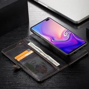 Image 3 - בציר ארנק מקרה לסמסונג גלקסי S10 בתוספת יוקרה Flip מגנטי עור גומי כריכה אחורית עבור Samsung Galaxy S10e S10 מקרה