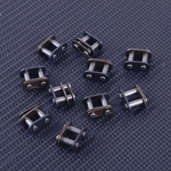 DWCX 10 sztuk 25 H T8F 8mm łańcuch ogniwo główne nadające się do 43cc 47 49cc Quad ATV Dirt motorynka skuter tanie i dobre opinie Zestawy łańcuchowe 25H T8F 1 6cm 0 8cm 1 2cm 0 036kg Metal easy to install 100 new Black 1 6x0 8x1 2cm 0 6x0 3x0 5inch