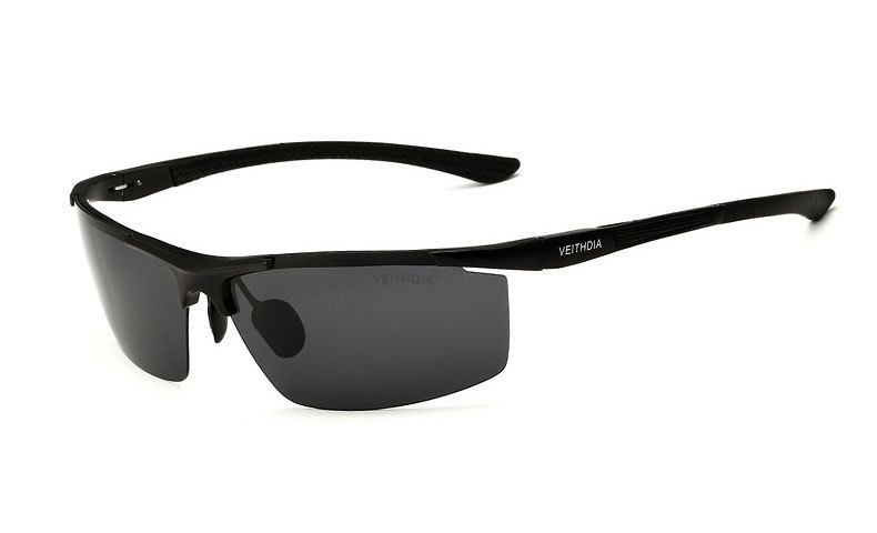 Поляризованные солнцезащитные очки из алюминиевого сплава. Мужские линзы. Зеркальные солнцезащитные очки для рыбалки, спорта и активного отдыха на свежем воздухе. Очки 6588 - Цвет линз: black