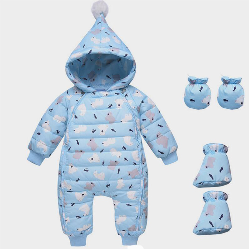 BibiCola baby girls rompers clothing winter newborn boys rompers cotton hooded jumpsuit toddler infant bebe boys thermal clothes winter baby rompers bear girls boys clothes hooded baby boys rompers cotton padded jumpsuits infants kids winter clothes