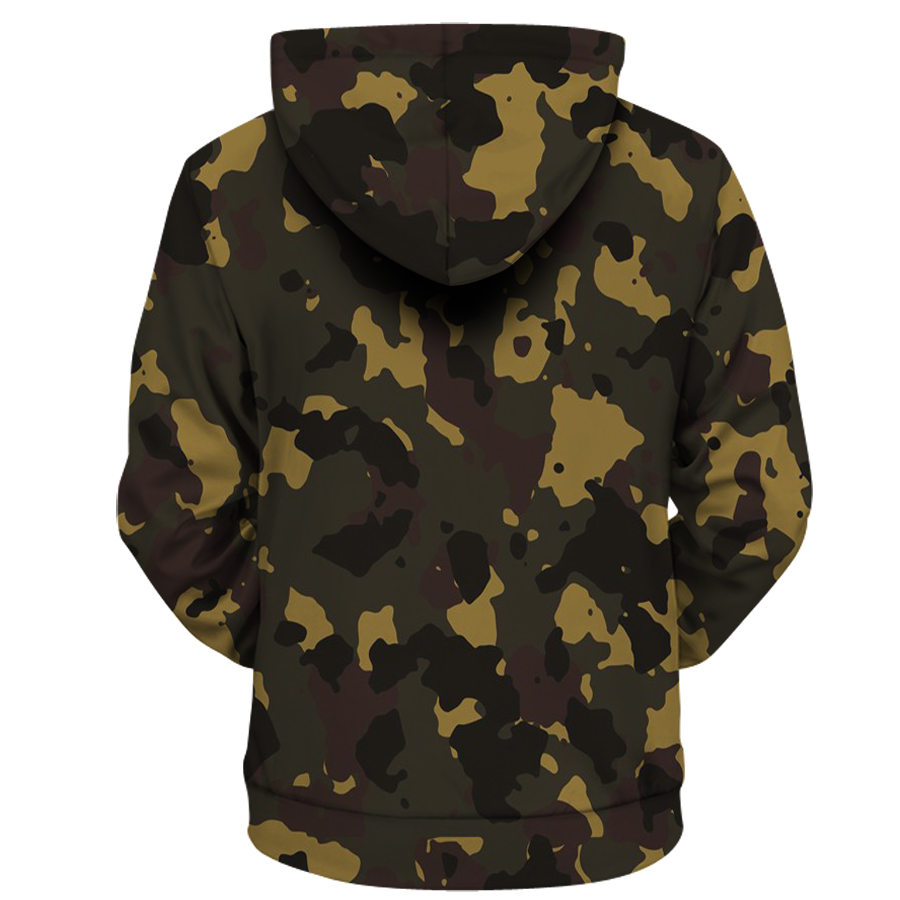 2019 Backwoods Camouflage Honey  Hoodies Unisex Man Sweatshirt Funny Food Hoody Plus Size Long Sleeve Tracksuit