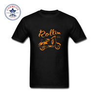 2017 Hot Sale Fashion Clothes Casual Roller Scooter Motorroller Vespa 50 80 125 Cotton Funny T