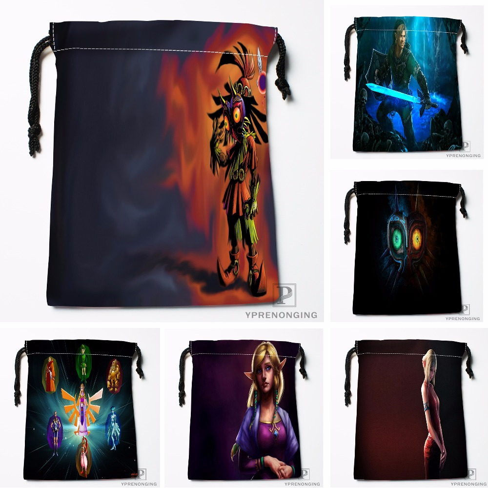 Custom The Legend Of Zelda Drawstring Bags Printing Travel Storage Mini Pouch Swim Hiking Toy Bag Size 18x22cm#180412-11-64