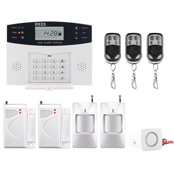 Saful Home Security Alarm &Wireless GSM System LCD Display SMS and Smoke Sensor Russian/English/Spanish/French voice