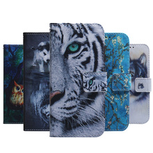 2019 Flip Wallet Case For LG G8 G8S V50 THINQ 5G Painted PU Leather Cover Stylo 5 K50 Q60 TPU Mobile Phone Bag
