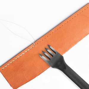 Practical Leather Punch Tool 2/4 Prong Wallet Bags Belts Leather Punching Tools Durable Leather DIY Craft Carving Tool