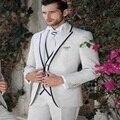 2016 Fashion New Custom Made Handmade Ivory 3 Piece Men's Wedding Suits Tuxedos Groom Suits