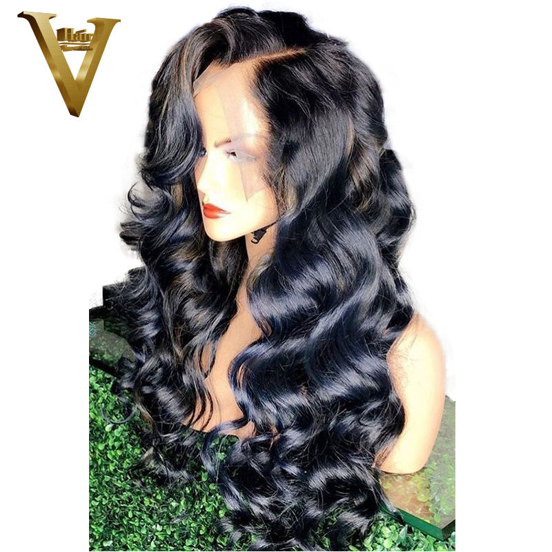 360 Lace Frontal Wig Pre Plucked With Baby Hair For Women Peruvian Remy Loose Wave Lace