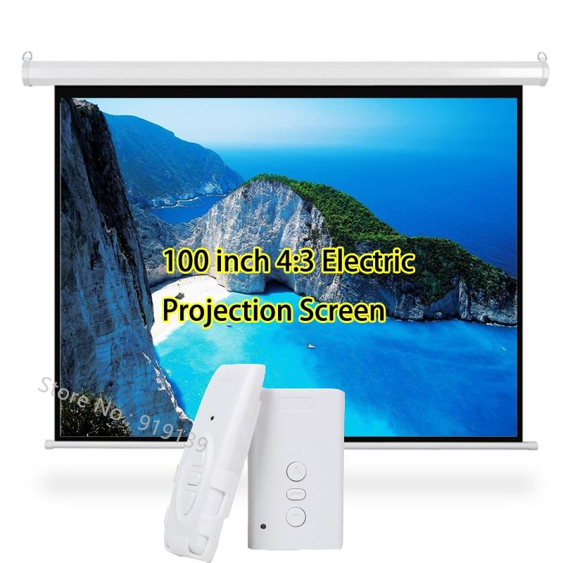 3D Elektrische Projektor Bildschirm 100 zoll 4:3 Projektionsfläche 80x60 zoll Sichtbaren Bereich Für HD Beamer Kino Schule klassenzimmer-in Projektionsflächen aus Verbraucherelektronik bei  Gruppe 1