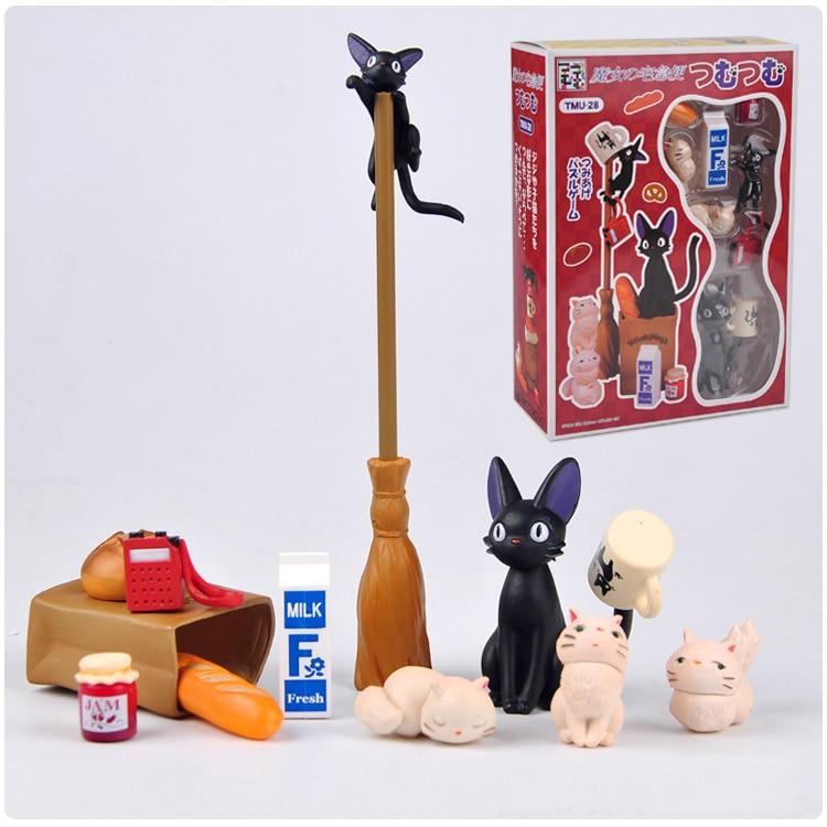 DIY Studio Ghibli Miyazaki Hayao Anime Kiki's Delivery Service Toy Collectible Decoration Action Figure Model Toy new kiki gigi bakery kiki s delivery service reconstruction animiation action figure doll house kid toy miniature diorama model