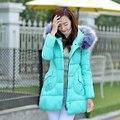 2016 outono nova jaqueta de inverno das mulheres para baixo algodão acolchoado a-line plus size manto casacos de moda e casacos feminino clothing gq1705