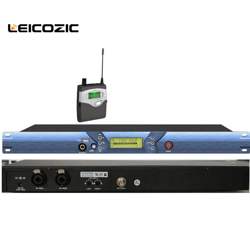 Leicozic L-5101 UHF Wireless In Ear Monitor System for Stage Performance ear monitoring system with USB stage monitor iem audio earobe bk 5101 wireless in ear monitor system for stage performance wireless monitoring system with corner brace and usb